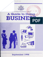 Guide to Doing Business With the Department of State 1998