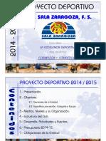 Presentación Proyecto Deportivo 2014 15
