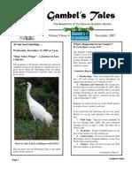 December 2007 Gambel's Tales Newsletter Sonoran Audubon Society
