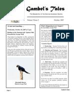 October 2007 Gambel's Tales Newsletter Sonoran Audubon Society