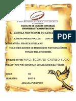 Finanzas Publicas Indicadores de Medición de Participacióndel Estado en La Economía