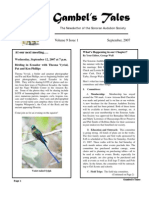 September 2007 Gambel's Tales Newsletter Sonoran Audubon Society