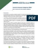 Cuadernillo Del Ministerio de Desarrollo - InAI Tierras y Registro Nacional de Comunidades Indigenas
