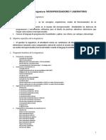 Plan de Trabajo I 2014 Mmicroprocesadores