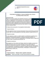 PANORAMA ECONÓMICO Y SOCIAL GENERAL DEL ESTADO PLURINACIONAL DE BOLIVIA