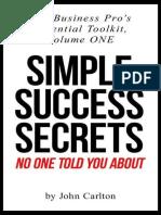 John Carlton - Simple Success Secrets