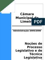 Noções de Processo Legislativo e de Técnica Legislativa Municipal