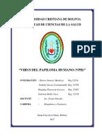 Virus Del Papiloma Humano (Vph) Monografia