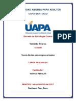 Teoría de Las Psicologías Actuales Tarea 3 y 4