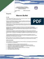Biografía de Warren Waffett