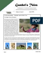 April 2010 Gambel's Tales Newsletter Sonoran Audubon Society