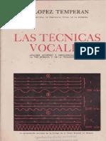 Las Tecnicas Vocales - Lopez Temperan