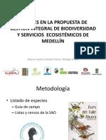 Propuesta De Gestión Integral De Biodiversidad Y Servicios Ecosistémicos De Medellín - Componente aves.pdf
