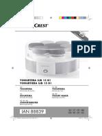 Yogurtera Lidl 88839 ES IT PT