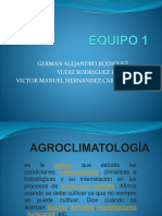 Importancia de La Agroclimatología en Los Diferentes Sistemas de Produccion 1