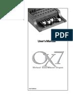 Wersi OX7 V5 User Manual - English