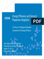 Integrating Efficiency and Demand Response (Taylor & Lanciani)