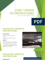 Evaluacion y Opinion de Construcciones