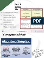Modelo Standar & Metodo Simplex - Introduccion Semana 3