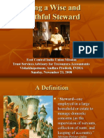 Being a Wise and Faithful Steward