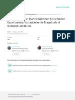 Meta-Analysis of Marine Nutrient-Enrichment Experi