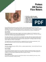 Proteus 200 Flowmeter Data Sheet