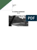 2015-2016 Master Science Handbook