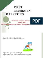 MME ELHASSOUNI Etudes Et Recherches en Marketing 1