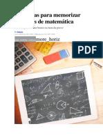 Oito Dicas Para Memorizar Fórmulas de Matemática