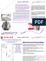 Instrucciones de Corte y Costura de La Camisa HM1339c
