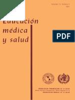 Educación Médica y Salud