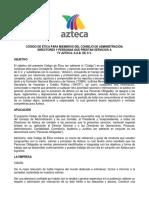 Codigo de Etica de TV Azteca 2015