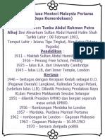 Biodata Perdana Menteri Malaysia