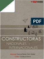 Constructoras Nacionales e Internacionales