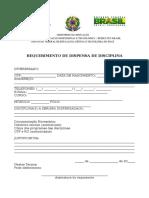 Requerimento de Dispensa de Disciplina - Rede E-Tec IFPI