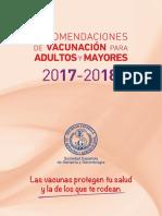 Recomendaciones Vacunacion 2017 2018