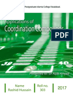 Applications of coordination compounds