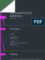 ORNAMENTAÇÃO BARROCA