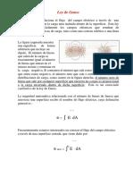 Ley de Gauss Electricidad