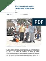 La Migración Causa Profundos Cambios en Familias Bolivianas