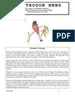 June 2005 Trogon Newsletter Huachuca Audubon Society