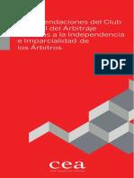Club Español Del Arbitraje - Imparcialidad e Independencia de Arbitros