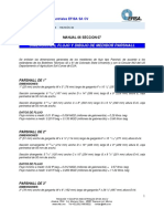 Mn0706 Dfdp Dimensiones, Flujos y Dibujo de Medidor Parshall