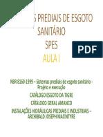 Instalacoes Hidraulicas - Aula 1 - SES
