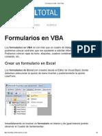 Formularios en VBA - Excel Total