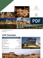 GGP General Growth Properties May 2016 Investor Presentation