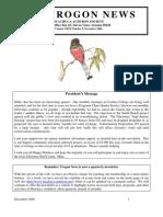 December 2006 Trogon Newsletter Huachuca Audubon Society