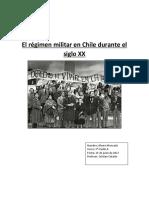 El Régimen Militar en Chile Durante El Siglo XX