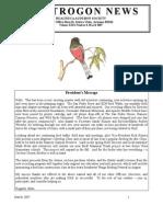 March 2007 Trogon Newsletter Huachuca Audubon Society