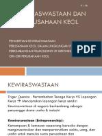 Kuliah 2b_Kewiraswastaan & Perusahaan Kecil